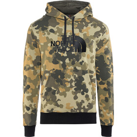 The North Face Drew Peak Pullover Hoodie Herre new taupe green macro flick print